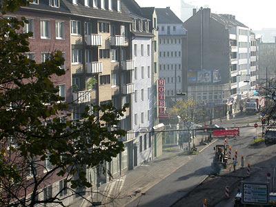 Düsseldorf, Worringer Str., Blick Richtung Worringer Platz