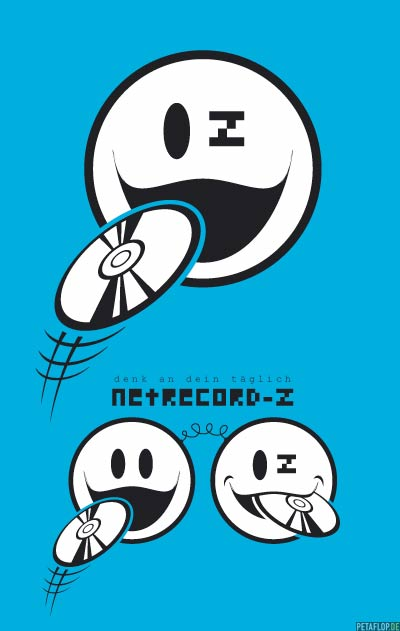 PETAFLOP Logo Illustration 'Netrecord-Z'