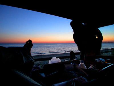 Blick aus dem Volvokofferraum
