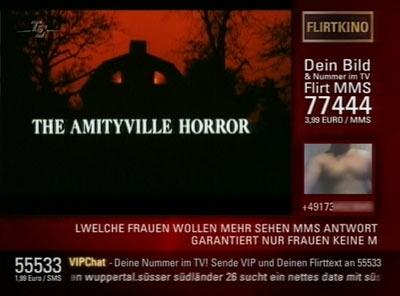 Tele5 Amityville SMS-Werbung 1