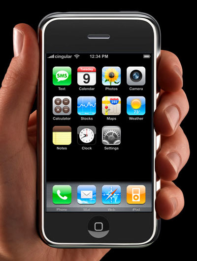 Apple iPhone front view