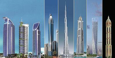 Dubai Skyscrapers building mania Bauwahn in Dubai Hochhäuser