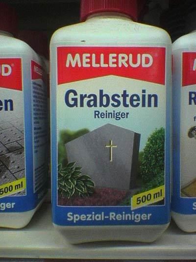 Mellerud - Grabstein-Reiniger - gravestone cleaner