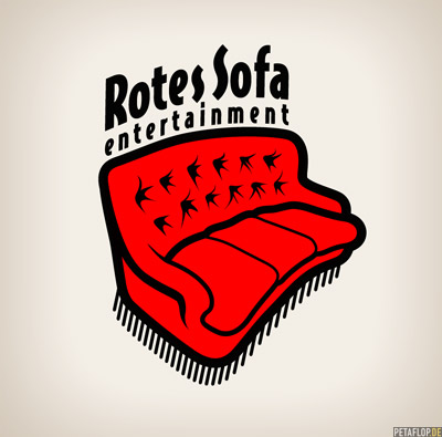 Rotes Sofa Logo Illustration, designed by PETAFLOP
