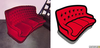 Logo Design Rotes Sofa