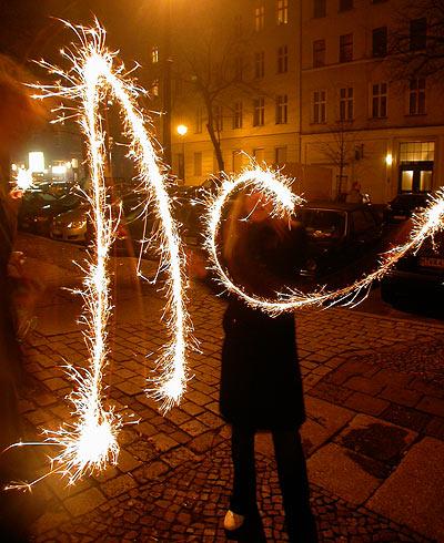 Silvester new year's eve 2006 Berlin Wunderkerze 2