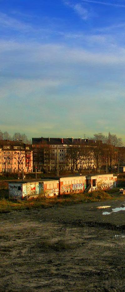 altes Güterbahnhofgelände Düsseldorf Derendorf