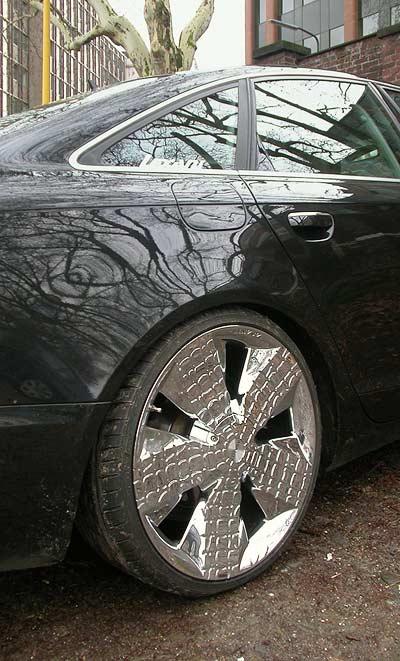 Audi A6 mit Asanti Alligator 51 Chrome Rim Chrom-Felge