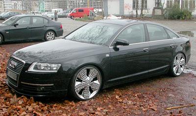 Audi A6 mit Asanti Alligator 51 Chrome Rim Chromfelge