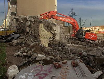 Ex-Bunker Abriss Schinkelstrasse Düsseldorf