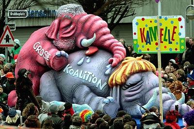 Kurt Beck und Angela Merkel auf dem Elefantenfriedhof der großen Koalition