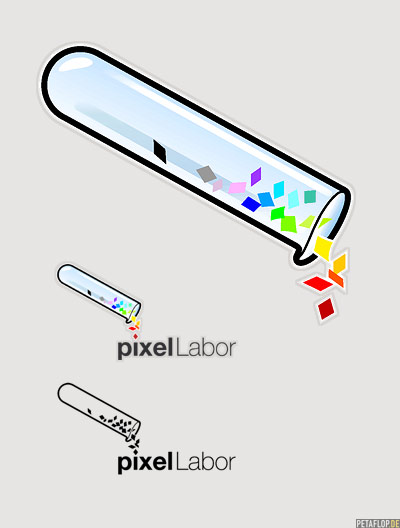 logo design studio. PETAFLOP logo design