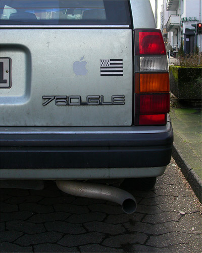 Volvo 760 GLE -  Apple-Aufkleber - Bretagne-Flagge