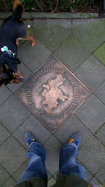 Geographischer Mittelpunkt Düsseldorfs