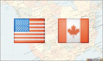 Kanada-Canada-USA-Flagge-Flag-Nordamerika-North-America