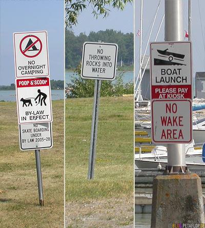 Signs-Verbotsschilder-Pier-Marina-Yachthafen-Sporthafen-Bruce-Mines-Ontario-Canada-Kanada-DSCN7982.jpg