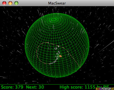 MacSwear-OpenGL-Open-GL-Mac-OS-X-OSX-Game-Computerspiel-Windows-Snake-3D-first-level-sphere