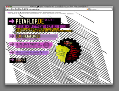PETAFLOP.DE-Graphic-Design-Website-Homepage-Startpage-Startseite-Portal-Site-old