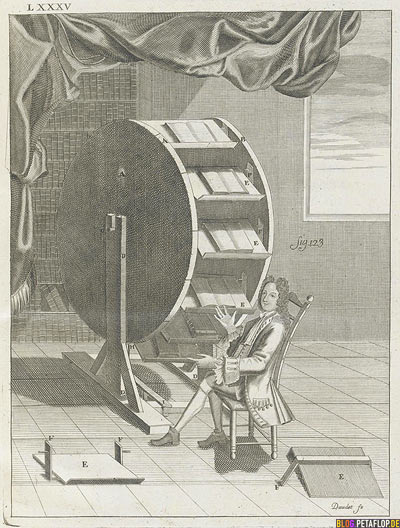 Surfing in the 18th century - Surfen im 18. 18ten Jahrhundert - machine Book Wheel