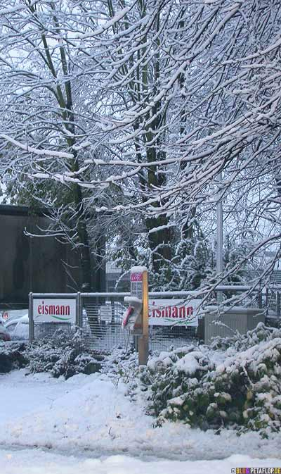 Eismann Tiefkühlkost Mettmann Schnee snow