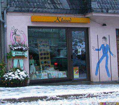 Kleinod Strickladen Geschäft shop Mettmann Schnee snow