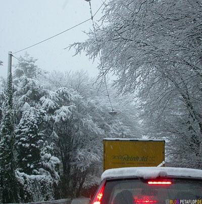 Spedition Reinhold LKW Mettmann Schnee snow