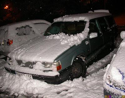 Volvo-760-GLE-Kombi-Snow-Schnee-eingeschneit Wülfrath