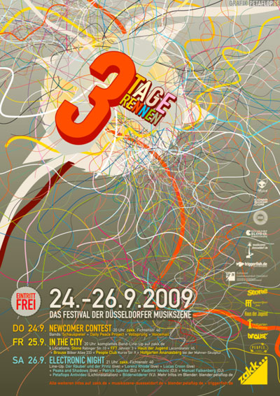 Poster-Design-3TR-2009-Petaflop-Graphic-Design-zakk-3-Tage-Rennen-Duesseldorf