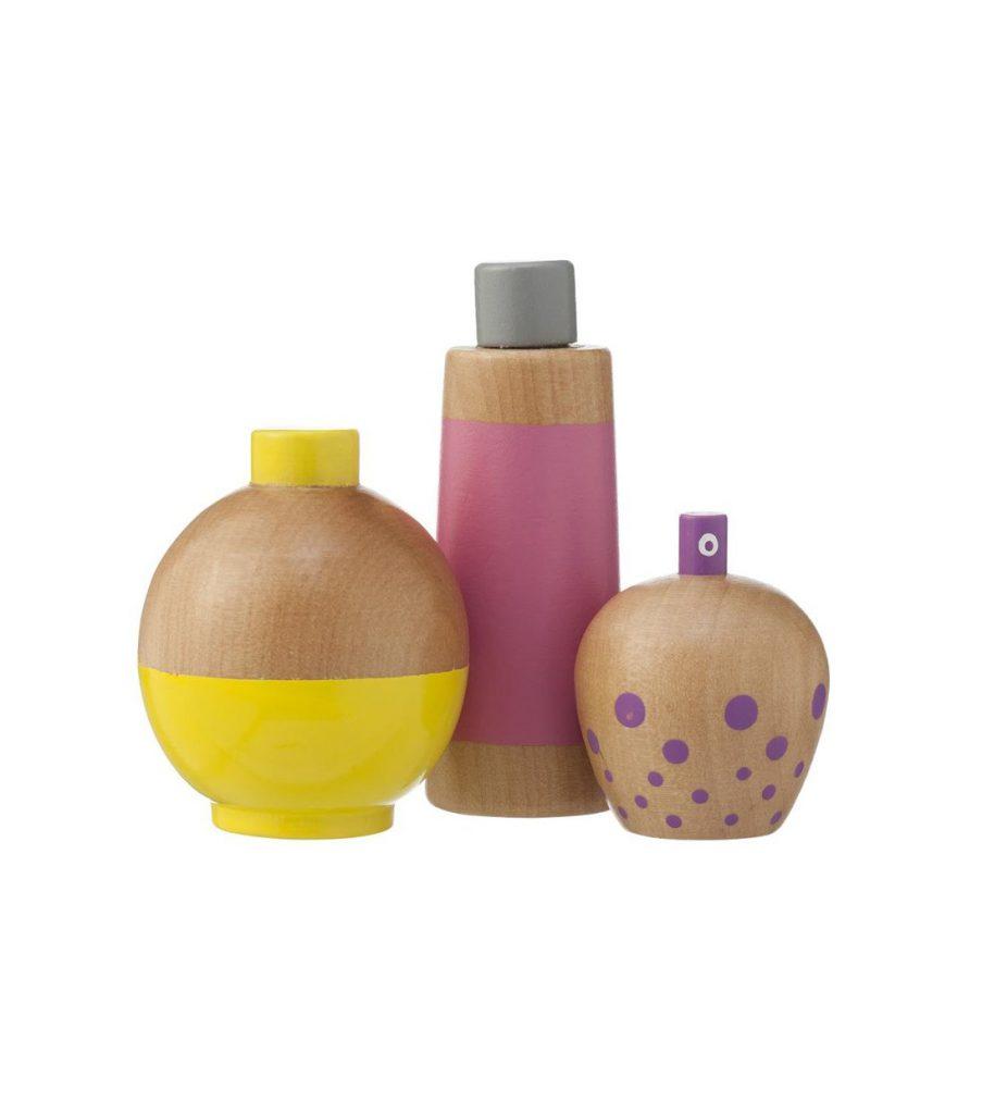HEMA Holzspielzeug Parfum Flacons fragrance perfume flacon Set wood toy wooden toys