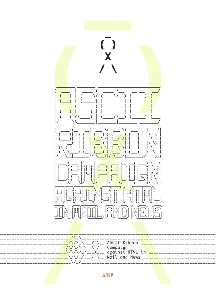 ASCII Ribbon Campaign against HTML in Mail and News - Poster Art Print
